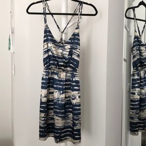 Summer blue/tan strapping dress size small